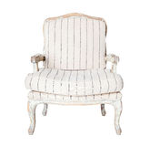 Classic white chair isolated on white Stock Image