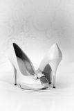 Classic white heels Royalty Free Stock Photo