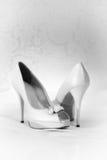 Classic white heels Royalty Free Stock Photo