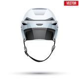 Classic white Ice Hockey Helmet with glass visor Royalty Free Stock Photography