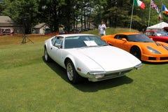 Classic white italian sports car Royalty Free Stock Image