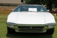 Classic white italian sports car Stock Image