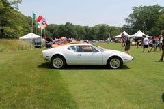 Classic white italian sports car Royalty Free Stock Photos