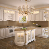 Classic white kitchen. Royalty Free Stock Image