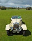 Classic white Morgan motor car Stock Image
