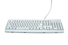 Classic white PC keyboard Stock Image