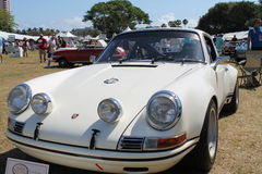 Classic white Porche at boca raton resort Stock Photos
