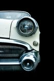 Classic white retro car isolated Stock Photography