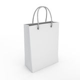 Classic white shopping bag Stock Photography