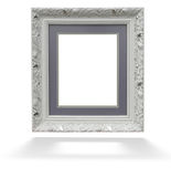 Classic white wooden frame  Stock Image