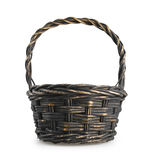 Classic wicker basket isolated on white background Royalty Free Stock Images