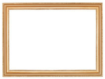 Classic wide retro wooden picture frame Royalty Free Stock Photos