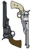 Classic Wild West handguns Stock Image