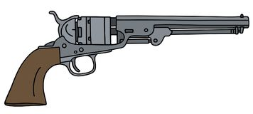 Classic wild west revolver Royalty Free Stock Images