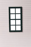 Classic window frame on white Stock Photography