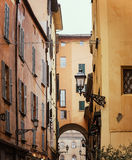 Classic window shutters in Bologna Royalty Free Stock Photo