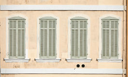 Classic windows in Marseille Royalty Free Stock Photo