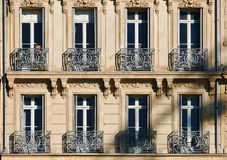 Classic windows in Marseille Royalty Free Stock Photography