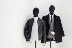 Winter clothes on male mannequin. Classic winter clothes on male mannequin Stock Photography