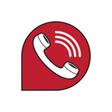 Classic wire phone handset Stock Images