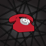 Classic wire telephone Royalty Free Stock Image