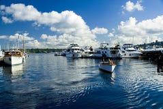 Classic Wood Boat Marina Stock Photography