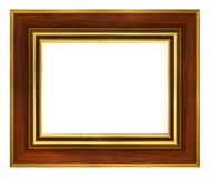 Classic wood gold frame Stock Photos
