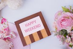 Classic wood photo frame on white background Stock Image