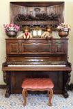 Classic wood piano Stock Photos