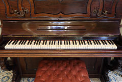 Classic wood piano Royalty Free Stock Images