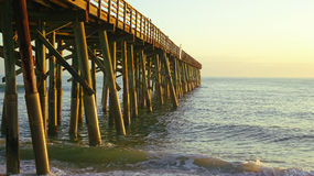 Classic Wood Pier in the Sea Royalty Free Stock Images