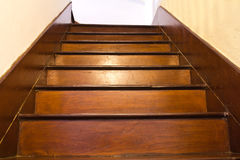 Classic wood stair Royalty Free Stock Photo