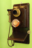 Classic wood telephone hanging Royalty Free Stock Image