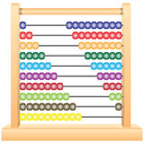 Classic Wooden Abacus. Classic childrens scores, teaching equipment. Vector illustration Stock Image