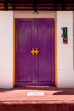 Classic wooden asian style door Stock Images