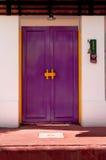 Classic wooden asian style door Stock Images