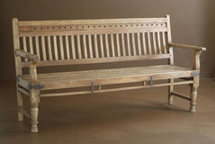 Classic wooden bench Stock Photos