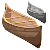 Classic wooden boat in cartoon style. Vector Royalty Free Stock Photos