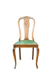 Classic wooden chair isolated Stock Image