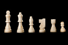 Classic Wooden Chessboard with Chess Pieces Royalty Free Stock Image