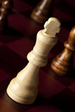 Classic Wooden Chessboard with Chess Pieces Stock Photography
