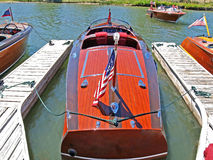Classic Wooden Chris Craft Royalty Free Stock Images