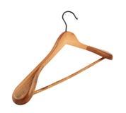 Classic wooden coat hanger Stock Image