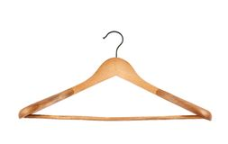 Classic wooden coat hanger Royalty Free Stock Photo
