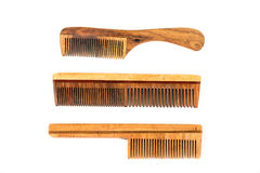 Classic wooden combs Stock Images