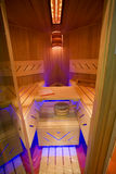 Classic wooden dry sauna inside Royalty Free Stock Images
