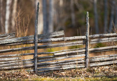 Classic wooden fence in Sweden Stock Photography