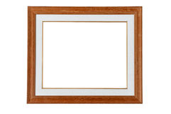 Classic wooden frame. Isolated on white background Royalty Free Stock Image