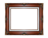 Classic wooden frame isolated on white background Stock Photography