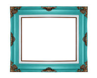 Classic wooden frame isolated on white background Royalty Free Stock Photo